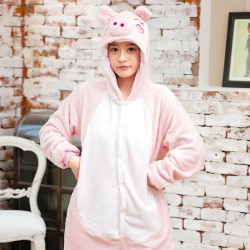 Pyjama adulte cochon rose
